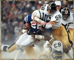 NFL 1976 Pittsburgh Steelers Jack Lambert Game Action Color 8 X 10 Photo