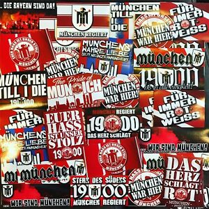 100 x Bayern Munich Stickers Ultra Unofficial based on Shirt Flag Scarf Poster