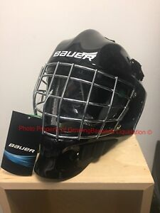 Bauer S17 NME 4 Ice Hockey Youth Goalie Mask! Helmet Facemask Black White YTH