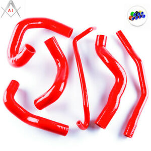 RED FOR 2005-2010 FORD MUSTANG GT/ SHELBY V8 ZAP SILICONE RADIATOR COOLANT HOSE