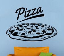 Pizzeria Logo Wall Vinyl Decal Pizza Shop Window Emblem Sticker Art Decor 10pzz