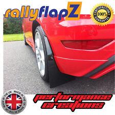 Rally Style Mudflaps FORD FIESTA ST ST180 Mud Flaps Black 4mm PVC REARS + Brkts