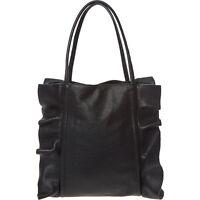 LAURA DI MAGGIO Black Genuine Leather Tote Bag rrp £160