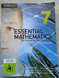 Essential Mathematics 7 Cambridge. 2Ed Aust Curriculum. USED VGC.(Malvern)