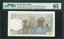 French West Africa 1944-1954, 50 Francs, P39, PMG 63 UNC