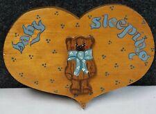 Vintage Original Teddy Bear Wall Art Hanging Kids Room Nursery Decor Baby Sleepg