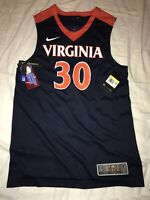 New Nike Men's Virginia Cavaliers UVA Elite Basketball Jersey Small $75 #30