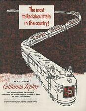 1953 Western Pacific Railroad Advertisement: Vista Dome California Zephyr