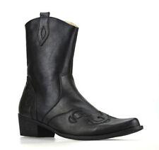 Men's Zip Cowboy Synthetic Boots