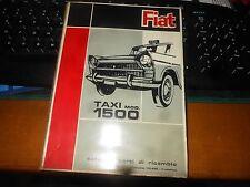 FIAT 1500 TAXI-CATALOGO PARTI DI RICAMBIO- 1-ED. 1963