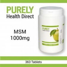 MSM 1000mg 1 YEAR SUPPLY 360 tablets Suitable Vegetarians and Vegans
