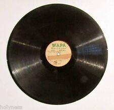 """ORIGINAL WAPA RADIO / 12"""" ACETATE RECORD / 1940's / VERY RARE / PLAY TESTED"""