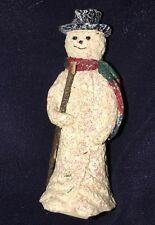 Mk Nib Enesco Snowsnickle Littlesnickles Snowman with Stick Figurine 547557