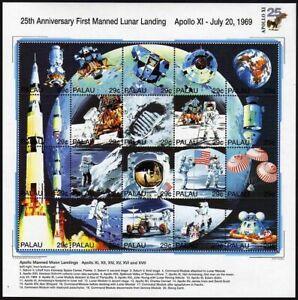 Palau 337 at sheet,MNH.Michel 725-744. 1st Manned Moon landing,25th Ann.1994