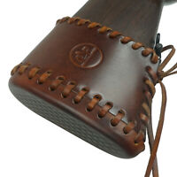 Leather Gun Buttstock Extension Slip on Recoil pad,Easy slip on & off, Handmade