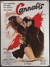 """CANNABIS 1970 French 23""""x31"""" poster Serge Gainsbourg Jane Birkin Filmartgallery"""