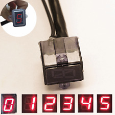 Red LED Universal Motorcycle Digital Light 0-5 Neutral Gear Indicator Display x1