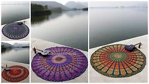 LARGE SELECTION Indian Round Mandala Hippie Tapestry Beach Throw Yoga Mat Rug