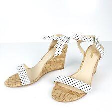Lulu's | White Black Polka Dots Wedge Heels Size 10