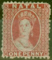 Natal 1863 1d Rose SG21 Wmk CC P.12.5 Fine Lightly Used
