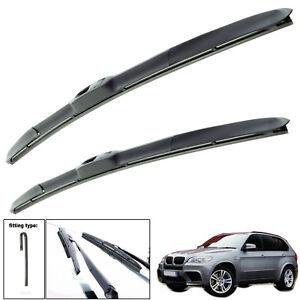 "Fits Bmw X5 2000-2006 Hybrid Wiper Blades Set Of Front 24""21"""