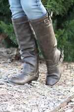 Breckelle's | Outlaw Two Tone Brown Riding Boots