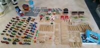Over 150pc Lot Thomas & Friends Wooden Train Tracks Carry Case Tower Tunnel Brio