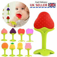 Newborn Kids Silicone Teething Baby Fruits Grind Teeth Toys Chewable Soother UK