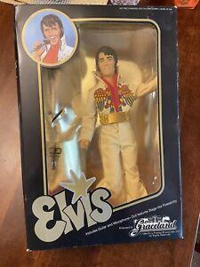 Elvis Presley Doll Gold-Lame Suit Endorsed By Graceland 1984