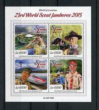 Sierra Leonean Sheet Scouting Postal Stamps