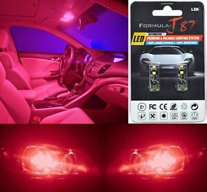 Canbus Error LED Light 194 Red Two Bulb Rear Side Marker Tail Lamp Replace Fit