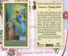 St. Gabriel the Archangel with Novena to Archangel Gabriel - Laminated Holy Card