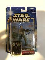 Star Wars SAGA Endor Rebel Soldier 2002 Action Figure Hasbro Kenner 150 On card