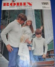 Robin Aran Family Knitting Book Knitting Pattern 1961