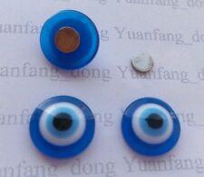 Azul Evil Eye Kabbalah Abalorio Suerte Magnético pendientes de CLIP Broche