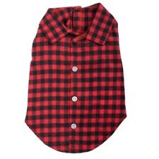 Worthy Dog Buffalo Red Plaid Shirt Cotton Flannel Preppy Hipster Sizes XS-XXL
