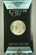 1882-CC GSA Hoard Morgan Silver Dollar $1 Coin ANACS MS-62 with Box & COA (B)