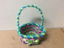 Rite Aid Easter Colorful Woven Basket with Bow