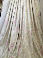 """Watercolour Pink Cabbage Rose & Paisley Scroll Bespoke MTM Curtains 48x89""""L NEW!"""