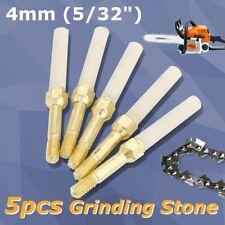 5Pcs 5/32'' Chainsaw Chain Sharpening Grinding Stone Round File 4MM Sharpener