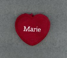 MARIE Red Felt Heart Ornament Valentine's Day + Christmas + Crafts + Gift Tag