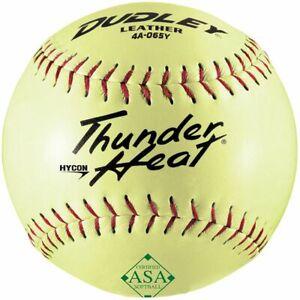 "Dudley 12"" Leather ASA .52/300 Softball - Dozen 4A-065Y-DZ"