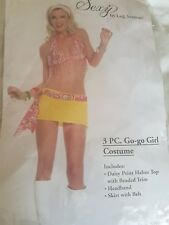 Leg avenue fancy dress costume go-go girl retro 60s 70s festival outfit s/m 8-12