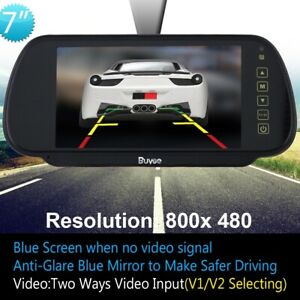 "DC 12V 7"" LCD TFT Color Monitor Screen for VCD/DVD/GPS/Car Rear View Camera Kit"