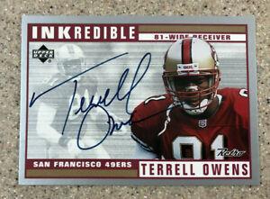 1999 Upper Deck Retro Inkredible Terrell Owens Autograph Auto 49ers Card