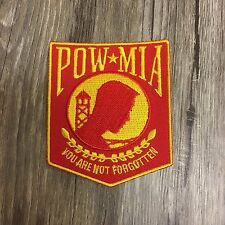 Red and Gold POW MIA Patch