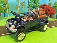 Custom Lifted, 1999 FORD F350, Super Duty, Truck Farm Toy, CB Antenna, Logs