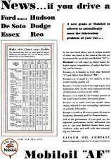 Mobiloil 1930 - Mobiloil 'AF' Ad - News… if you drive a Ford Modle A, Hudson, De