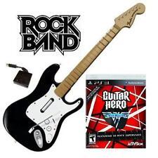 NEW PS3 Rock Band Wireless Fender Stratocaster & Guitar Hero Van Halen Bundle