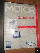 Ford Factory Auto Crash Estimating Data Service Shop Manual 2001 Vol. 33 Num. 4